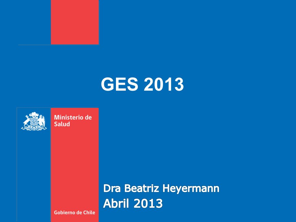 GES 2013 Dra Beatriz Heyermann Abril 2013