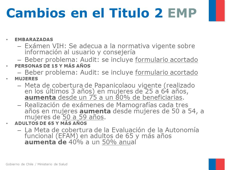 Cambios en el Titulo 2 EMP