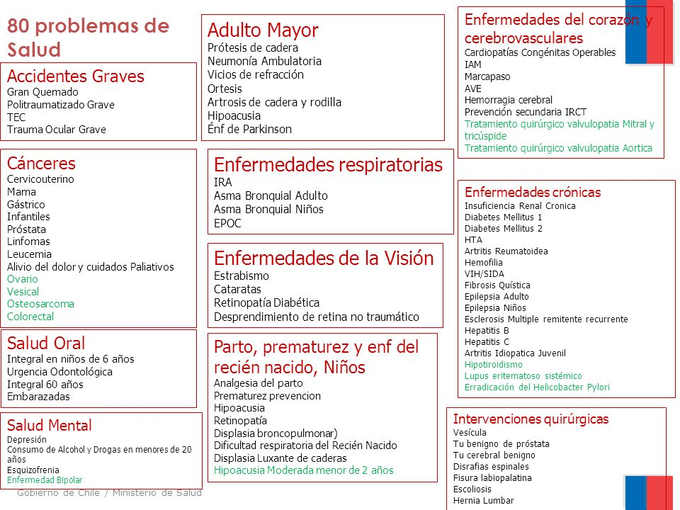80 problemas de Salud Adulto Mayor Enfermedades respiratorias