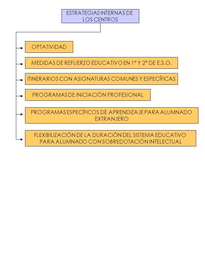 ESTRATEGIAS INTERNAS DE LOS CENTROS