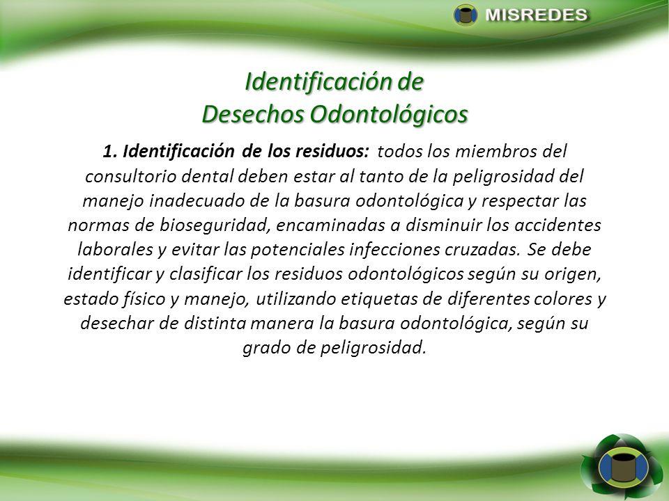 Identificación de Desechos Odontológicos