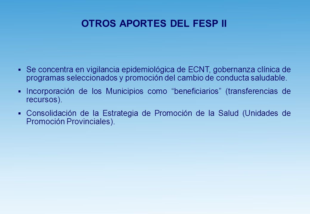 OTROS APORTES DEL FESP II