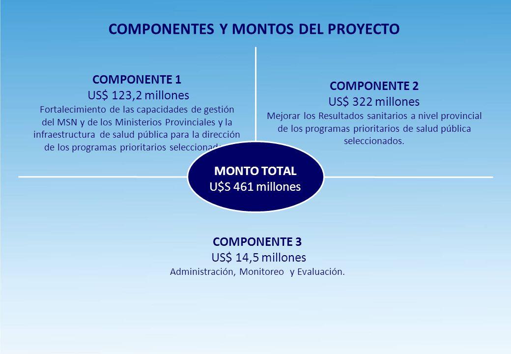 COMPONENTES Y MONTOS DEL PROYECTO