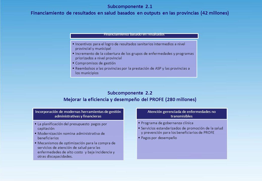 Mejorar la eficiencia y desempeño del PROFE (280 millones)