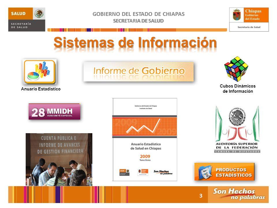 GOBIERNO DEL ESTADO DE CHIAPAS Sistemas de Información