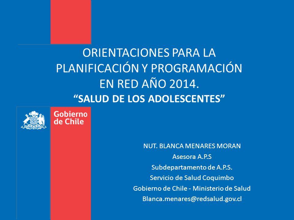 ORIENTACIONES PARA LA PLANIFICACIÓN Y PROGRAMACIÓN EN RED AÑO 2014
