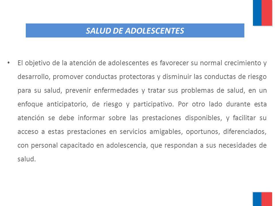 SALUD DE ADOLESCENTES