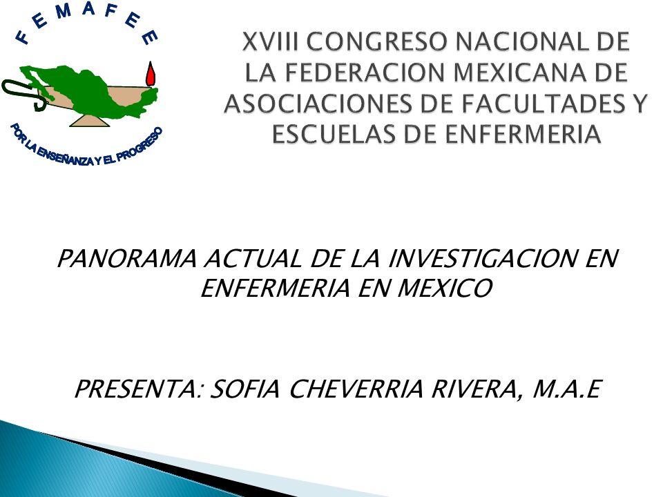 XVIII CONGRESO NACIONAL DE LA FEDERACION MEXICANA DE ASOCIACIONES DE FACULTADES Y ESCUELAS DE ENFERMERIA