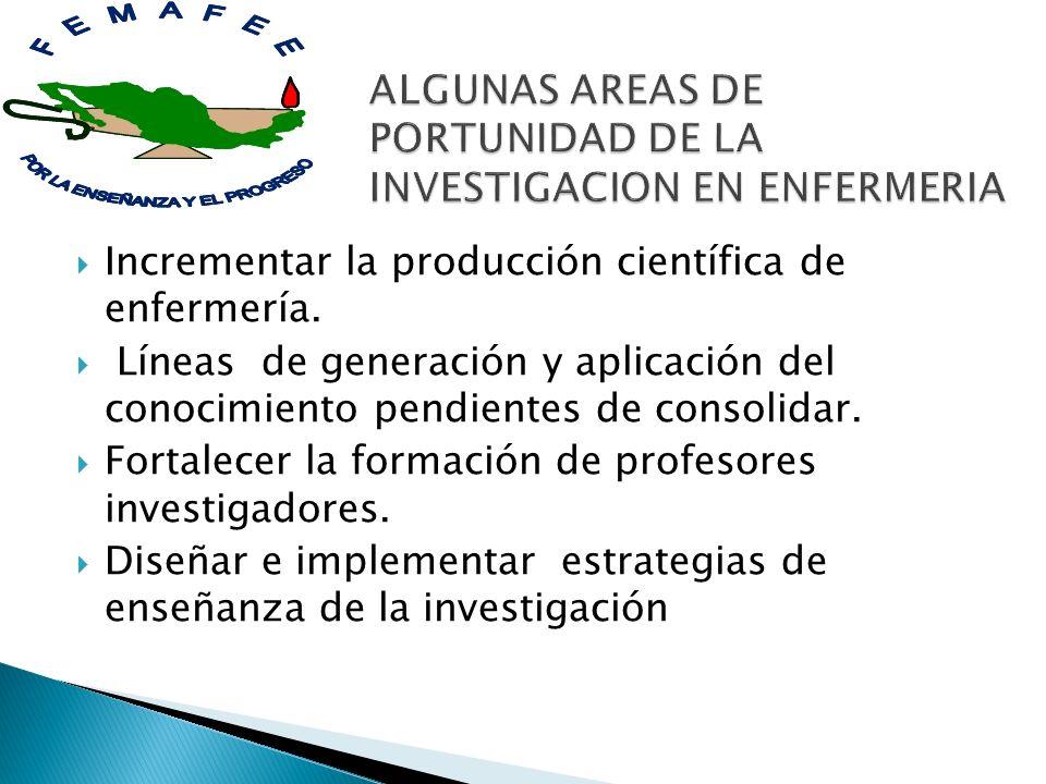 ALGUNAS AREAS DE PORTUNIDAD DE LA INVESTIGACION EN ENFERMERIA