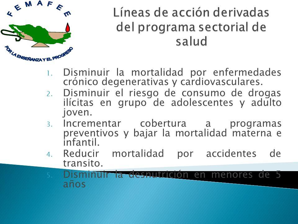 Líneas de acción derivadas del programa sectorial de salud