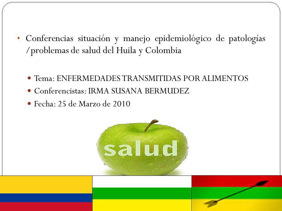 Conferencias situación y manejo epidemiológico de patologías /problemas de salud del Huila y Colombia