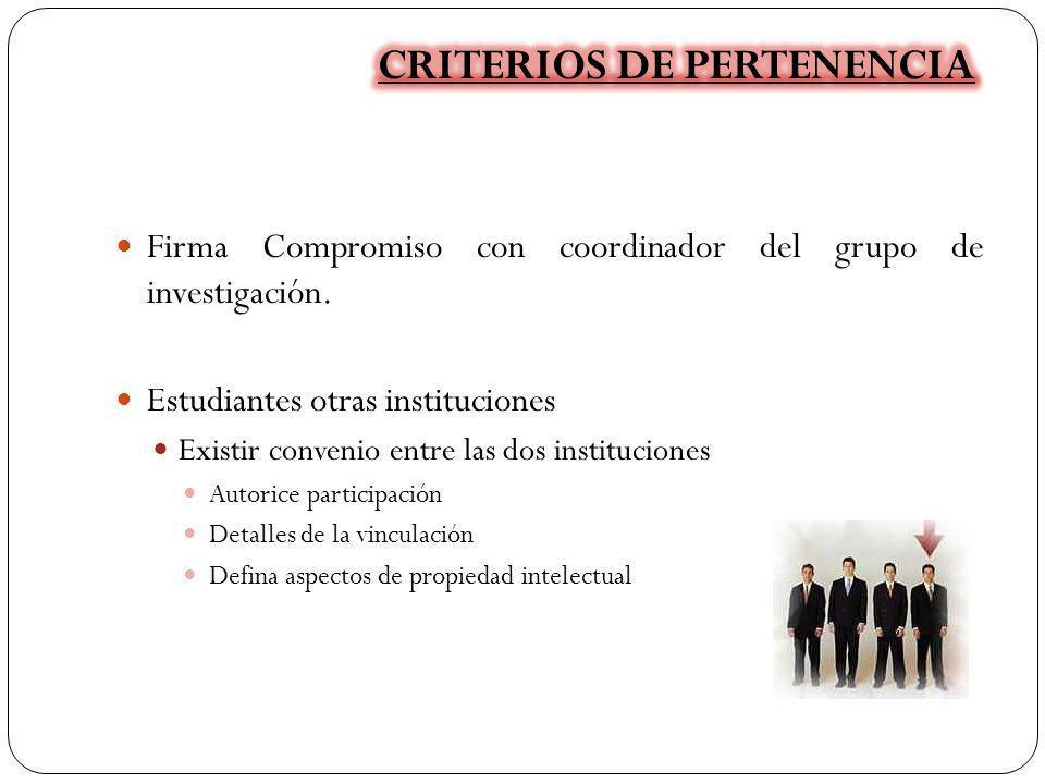 CRITERIOS DE PERTENENCIA