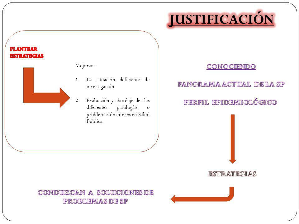 JUSTIFICACIÓN CONOCIENDO PANORAMA ACTUAL DE LA SP