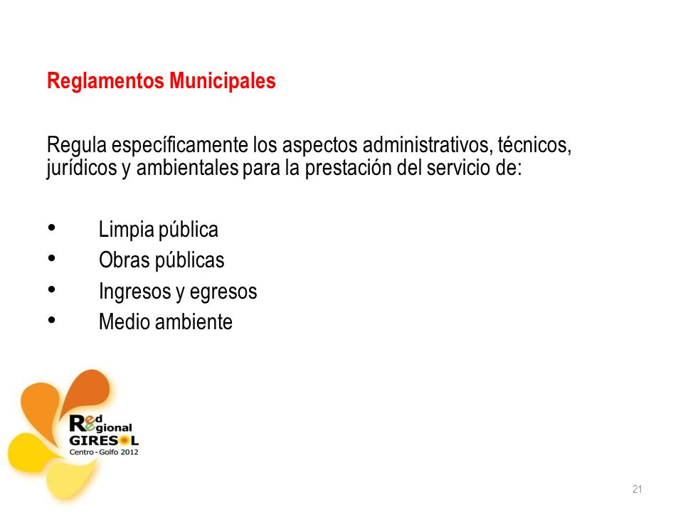 Reglamentos Municipales