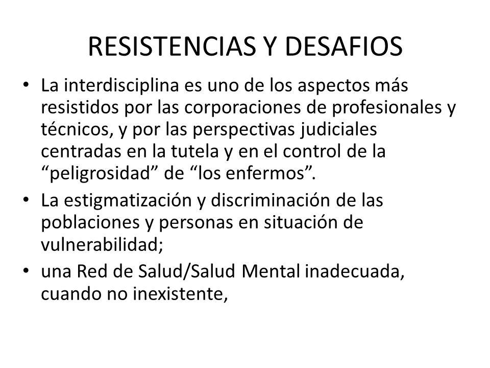 RESISTENCIAS Y DESAFIOS