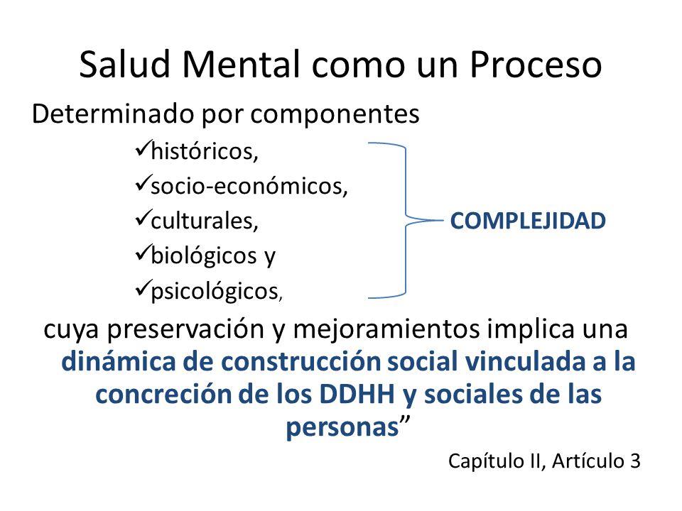 Salud Mental como un Proceso