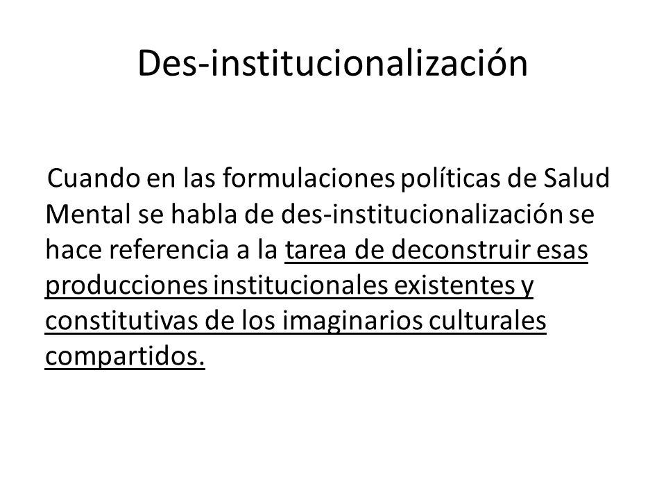 Des-institucionalización