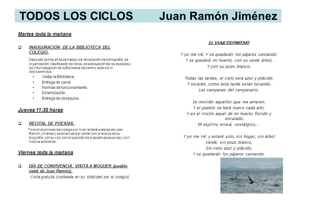 TODOS LOS CICLOS Juan Ramón Jiménez