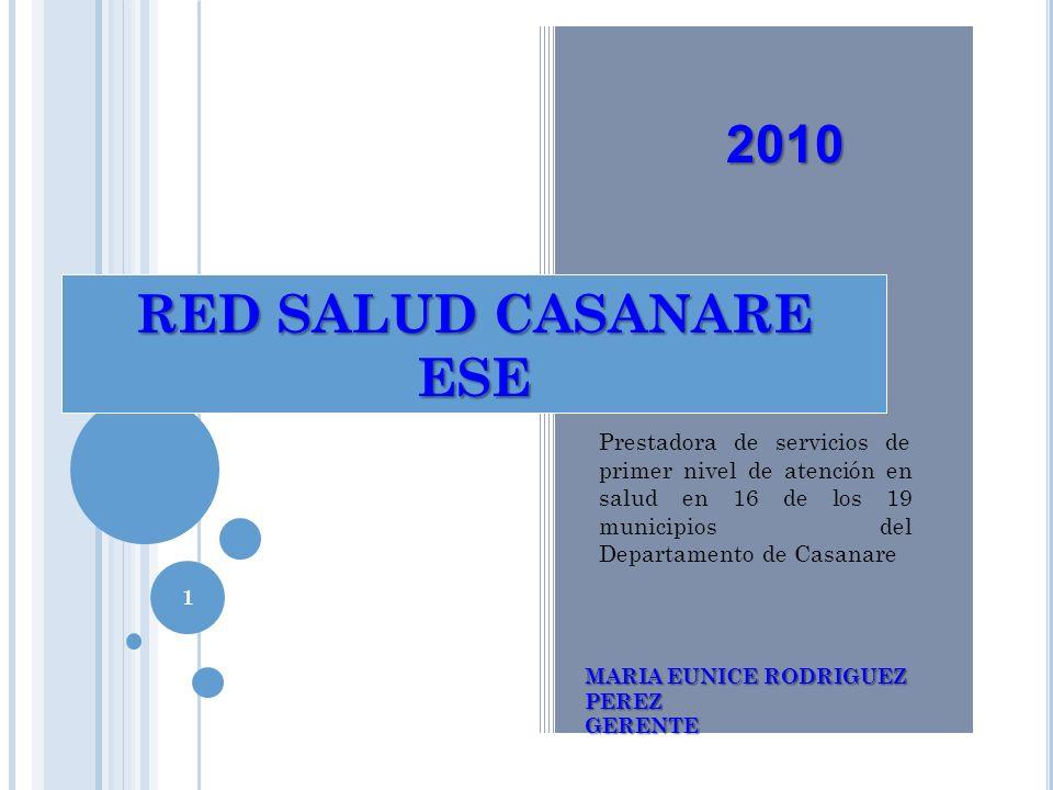 RED SALUD CASANARE ESE - CIERRE FISCAL 2010