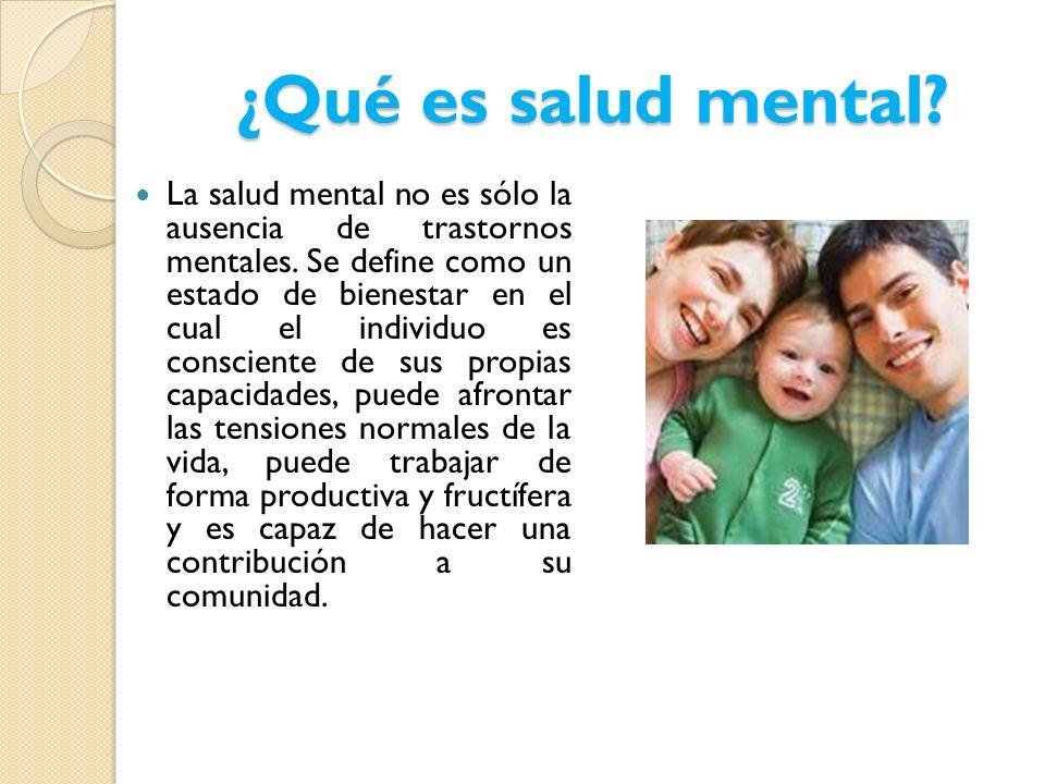 ¿Qué es salud mental