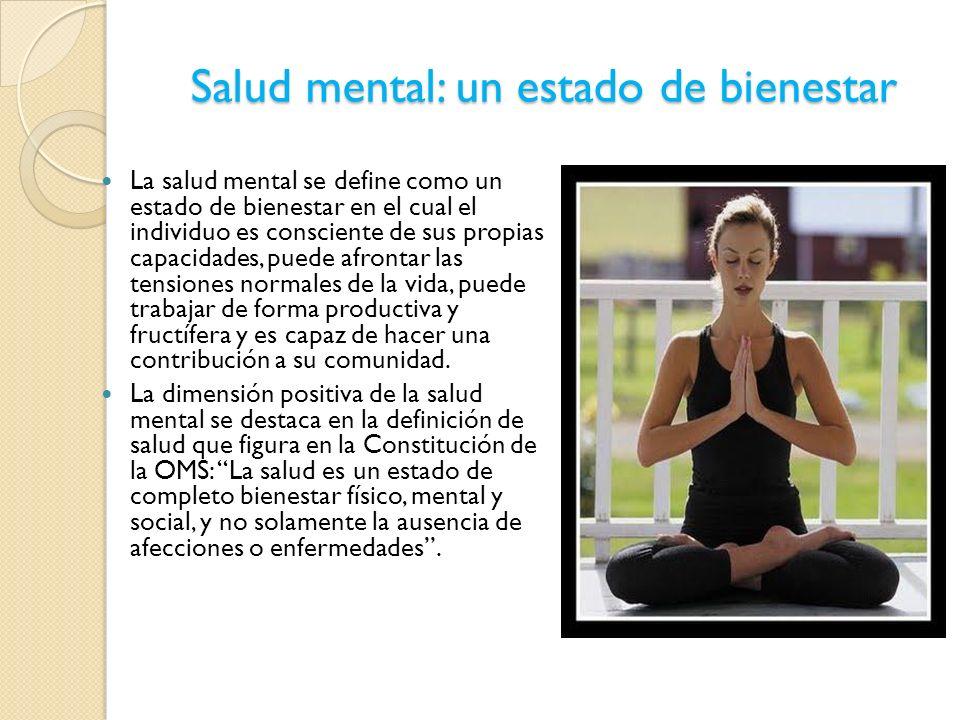 Salud mental: un estado de bienestar