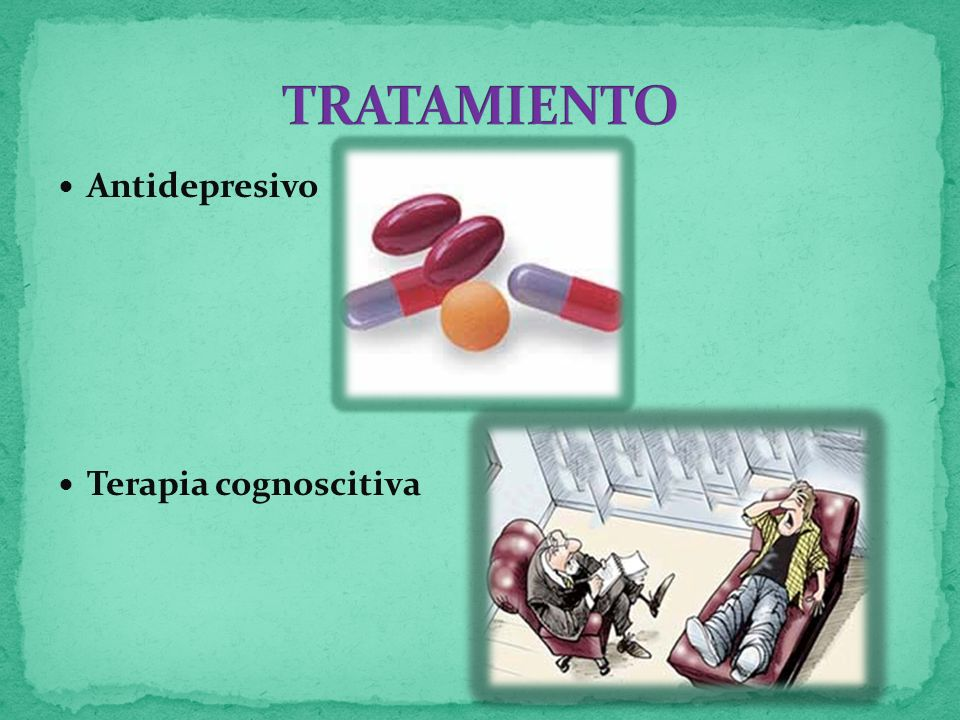 TRATAMIENTO Antidepresivo Terapia cognoscitiva
