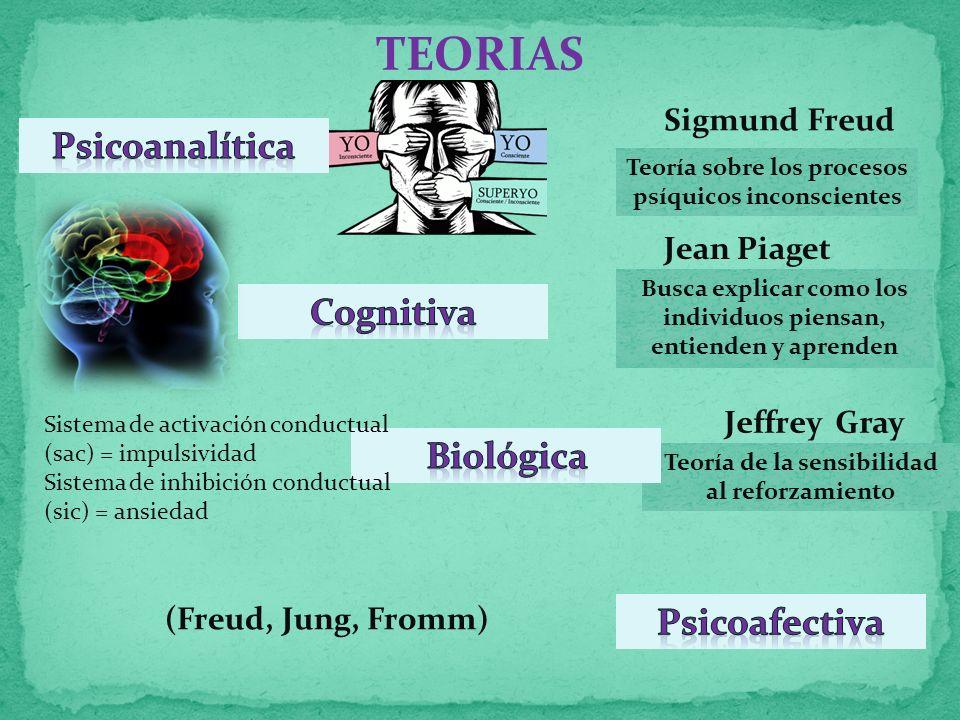 TEORIAS Psicoanalítica Cognitiva Biológica Psicoafectiva Sigmund Freud