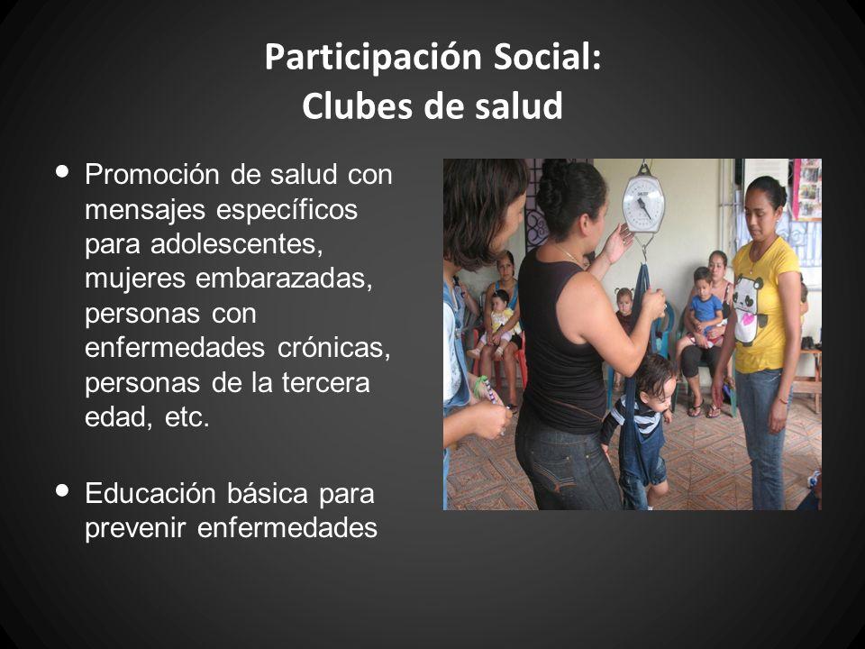 Participación Social: Clubes de salud