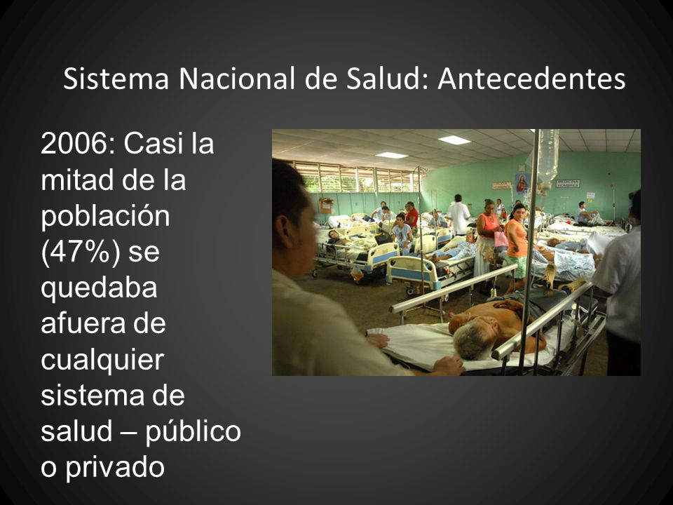 Sistema Nacional de Salud: Antecedentes