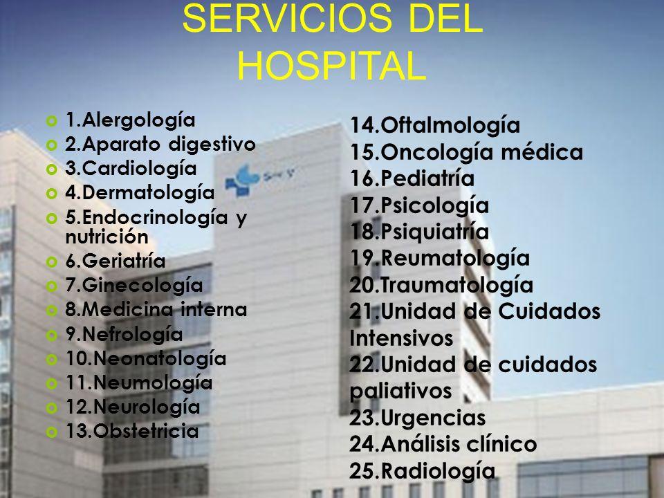 SERVICIOS DEL HOSPITAL