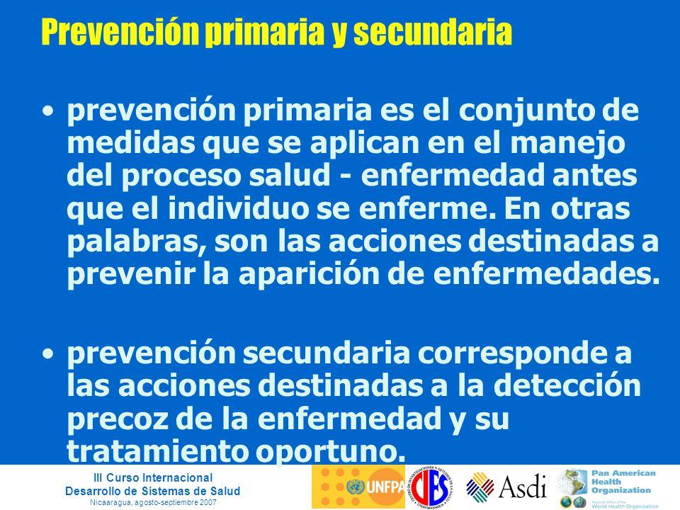Prevención primaria y secundaria