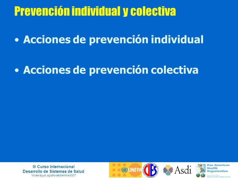 Prevención individual y colectiva