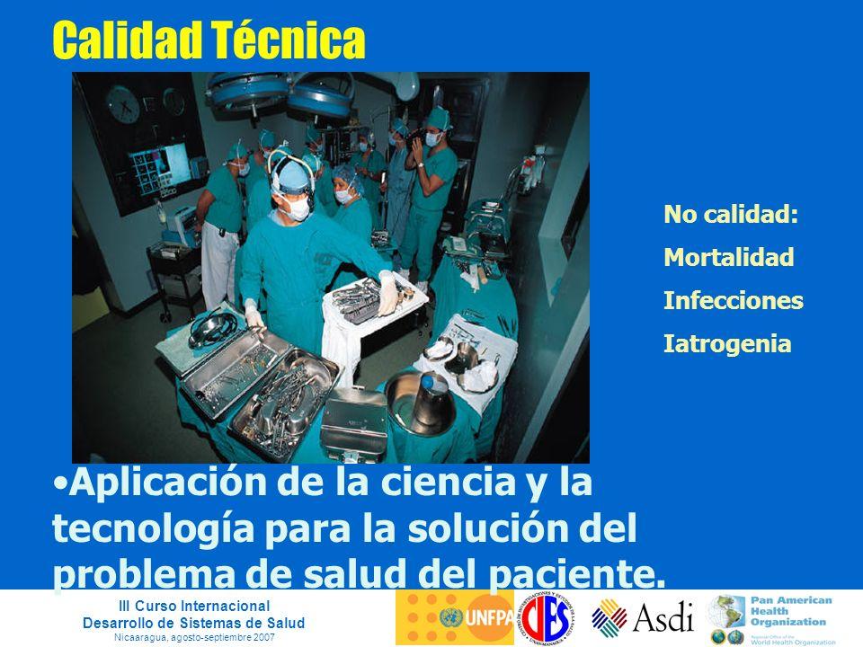 Calidad Técnica No calidad: Mortalidad. Infecciones. Iatrogenia.