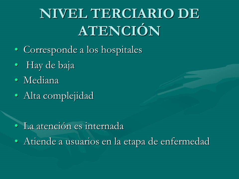 NIVEL TERCIARIO DE ATENCIÓN