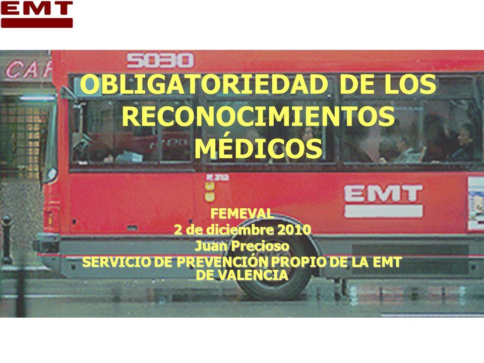 OBLIGATORIEDAD DE LOS RECONOCIMIENTOS MÉDICOS