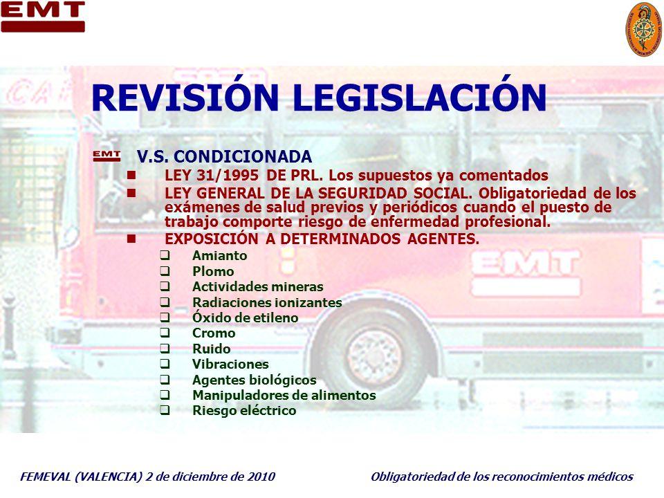 REVISIÓN LEGISLACIÓN V.S. CONDICIONADA