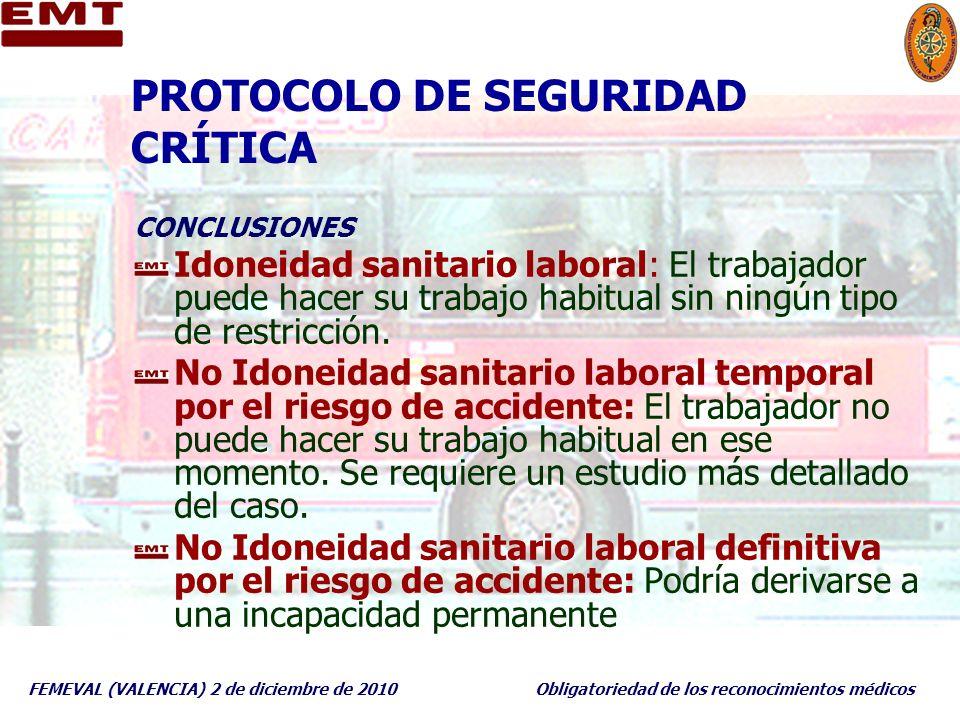 PROTOCOLO DE SEGURIDAD CRÍTICA
