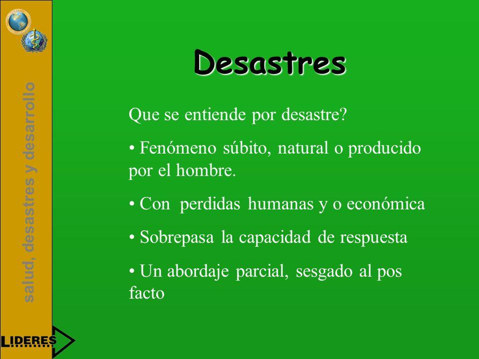 Desastres Que se entiende por desastre