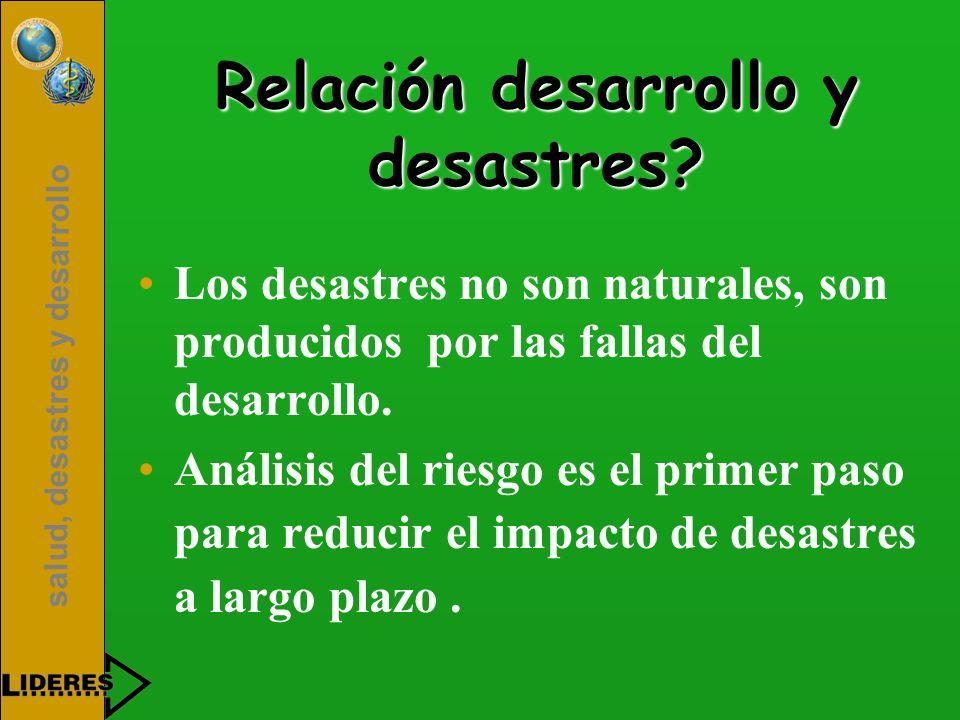 Relación desarrollo y desastres