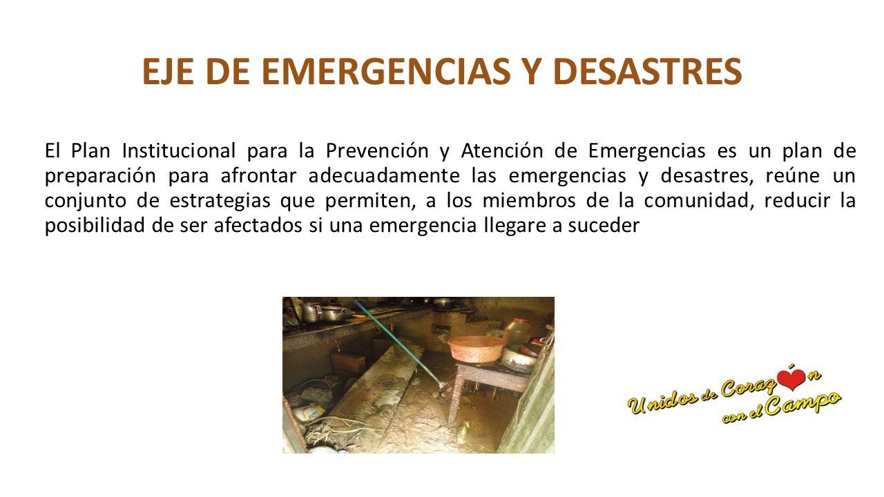 EJE DE EMERGENCIAS Y DESASTRES