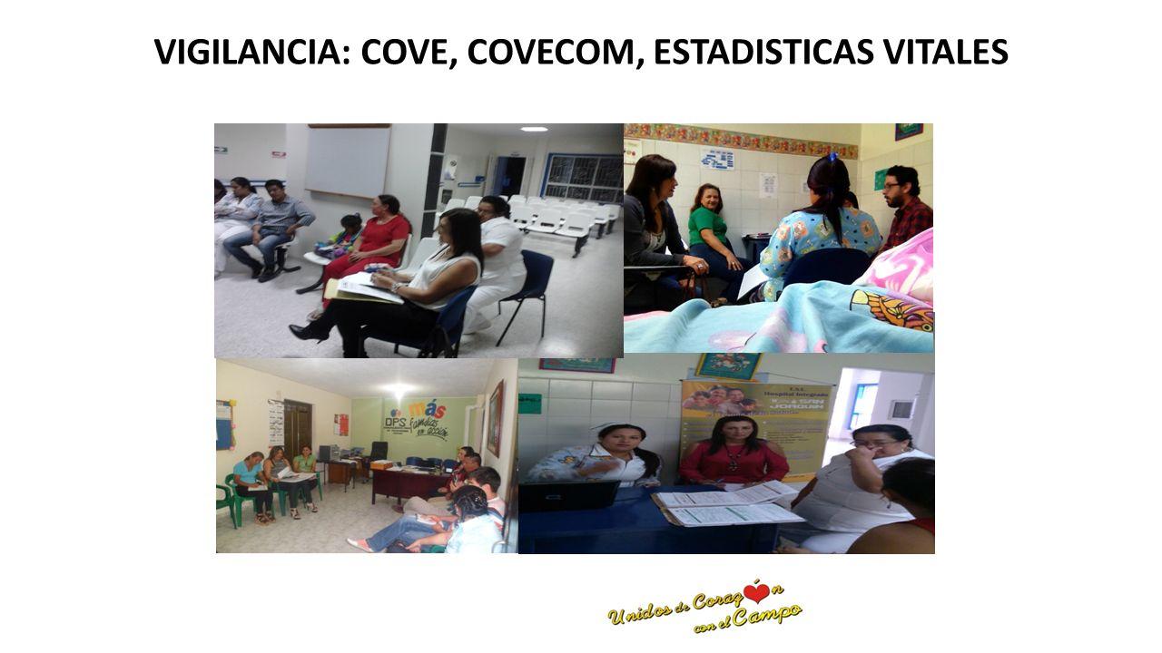 VIGILANCIA: COVE, COVECOM, ESTADISTICAS VITALES