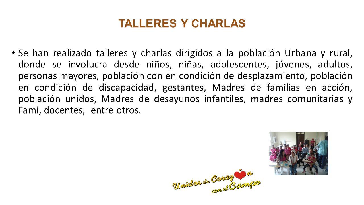 TALLERES Y CHARLAS