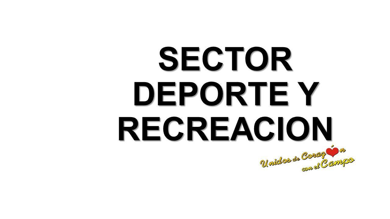 SECTOR DEPORTE Y RECREACION