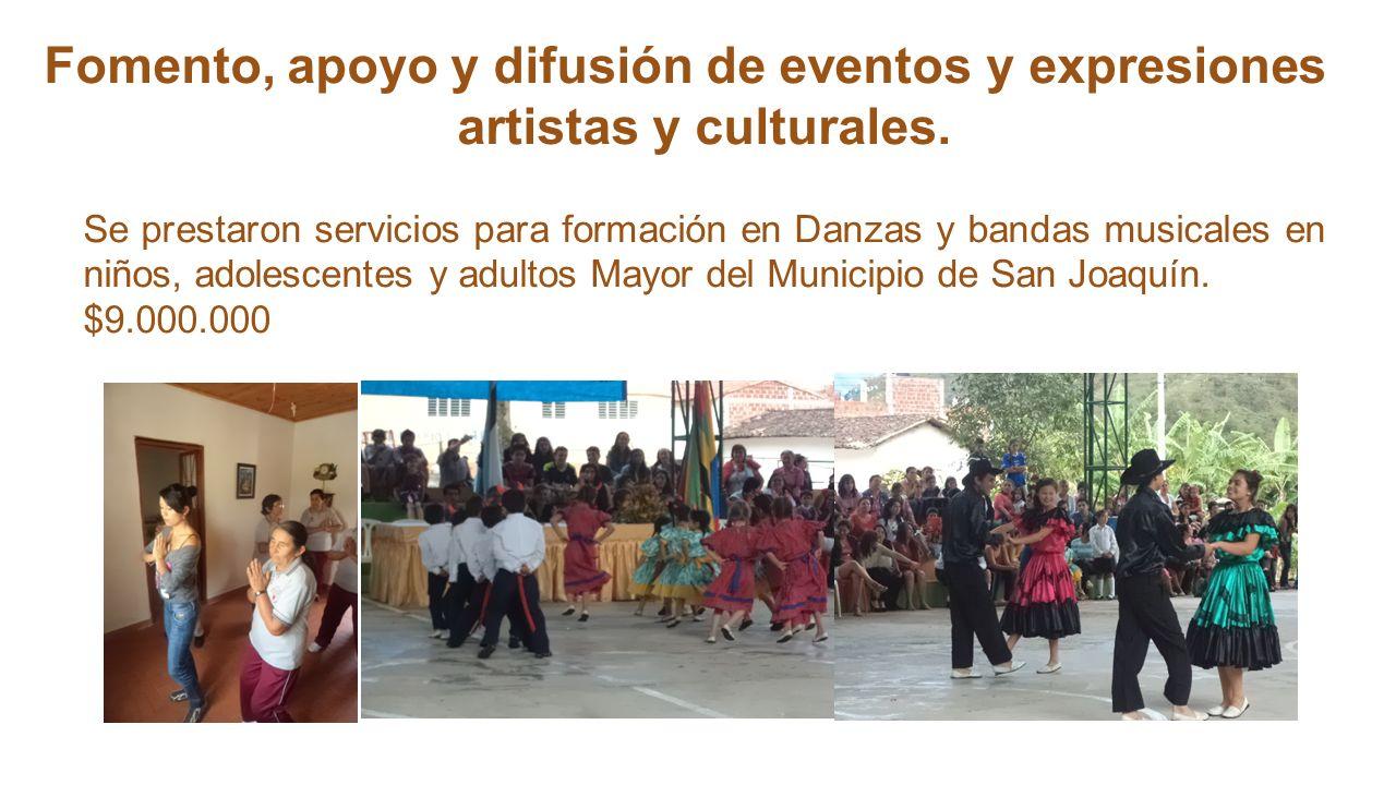 Fomento, apoyo y difusión de eventos y expresiones artistas y culturales.