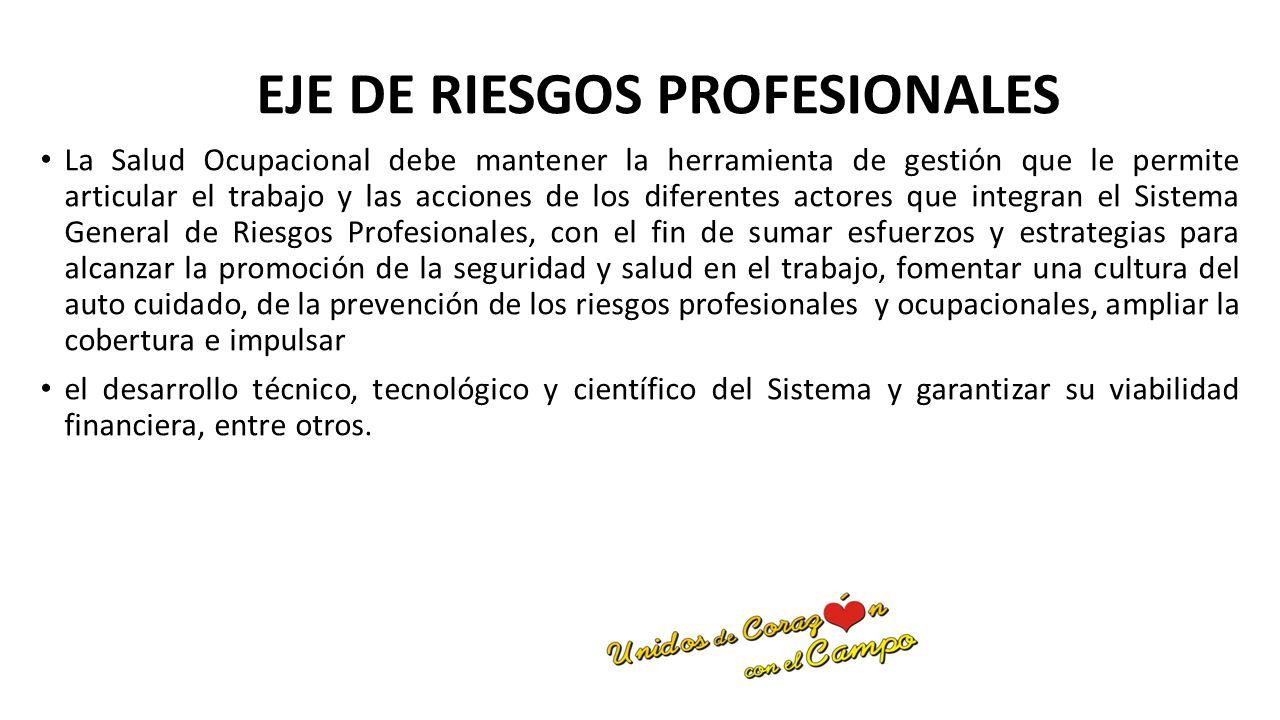 EJE DE RIESGOS PROFESIONALES