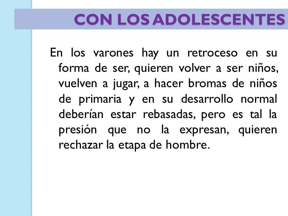CON LOS ADOLESCENTES