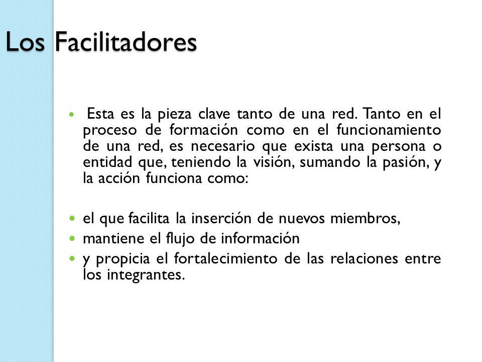 Los Facilitadores el que facilita la inserción de nuevos miembros,