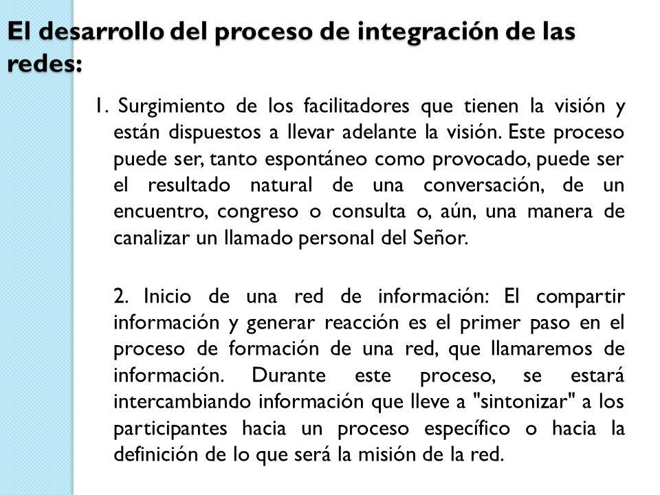 El desarrollo del proceso de integración de las redes: