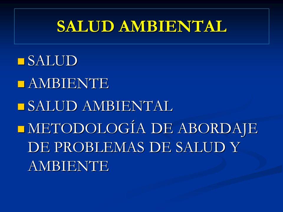 SALUD AMBIENTAL SALUD AMBIENTE SALUD AMBIENTAL