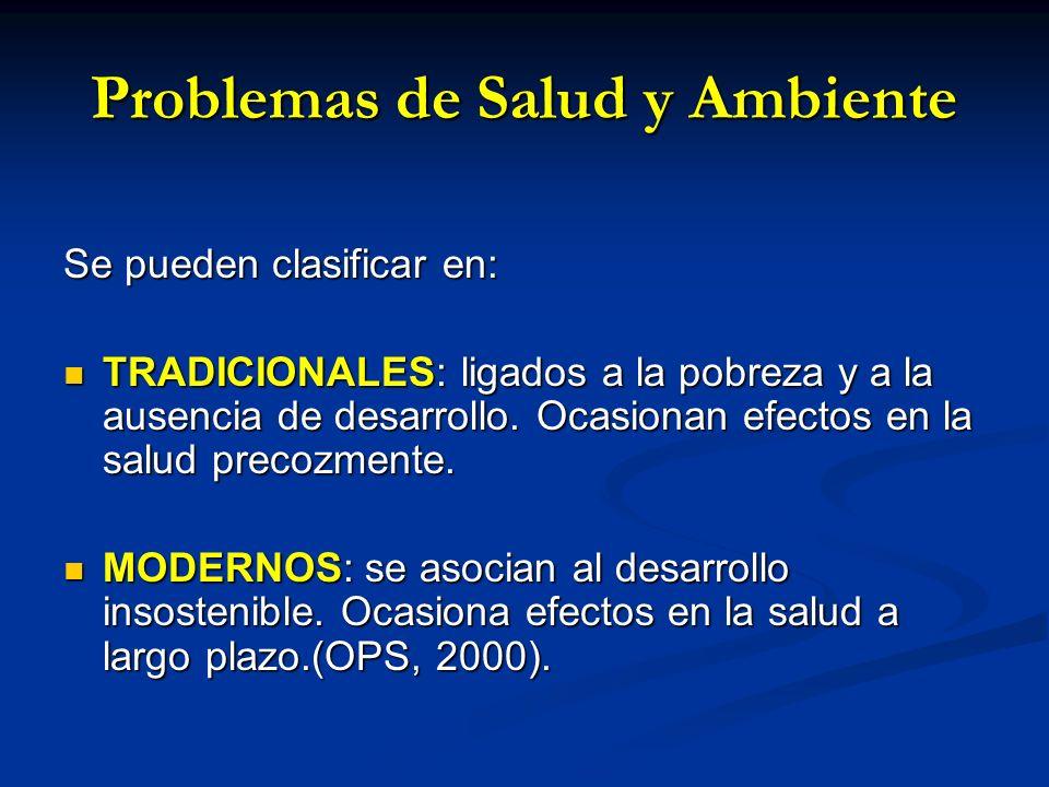 Problemas de Salud y Ambiente